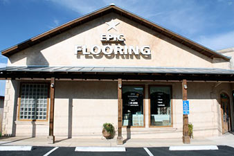 Epic Flooring Storefront - Conveniently located on main street in Boerne, Texas