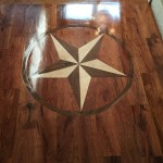 Solid Mesquite Wood Floors with Wood Star insert